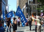 MUA marchers